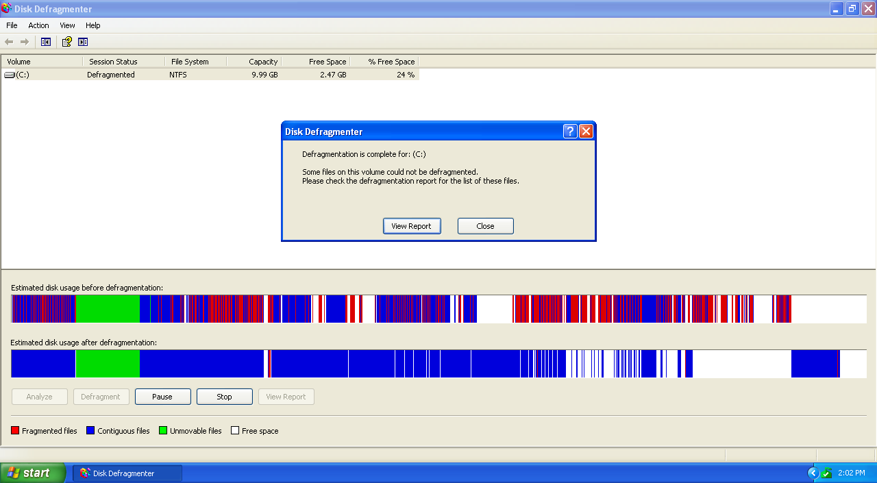 Windows xp tips defragment your hard drive.