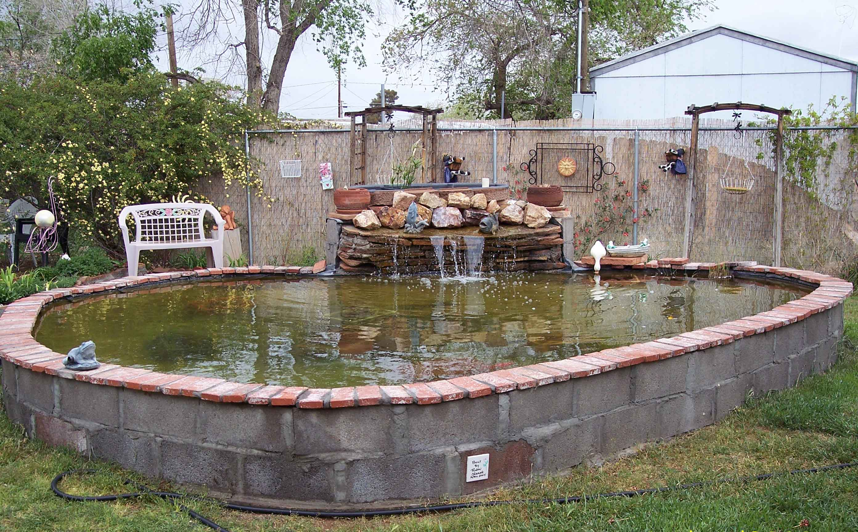 Pond for Cinder block koi pond
