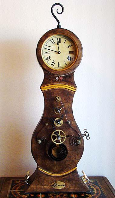 Steampunk brass gears unique mantel clock artwork home decor artist john stebila ebay - Steampunk mantle clock ...